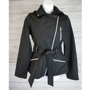 Sebby Collection Jacket Sz Small Black Belted